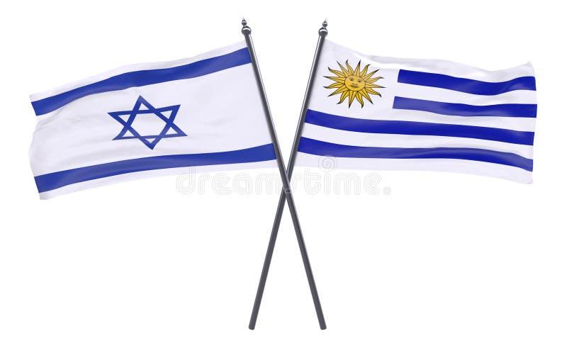 两面横渡的旗子 皇族释放例证