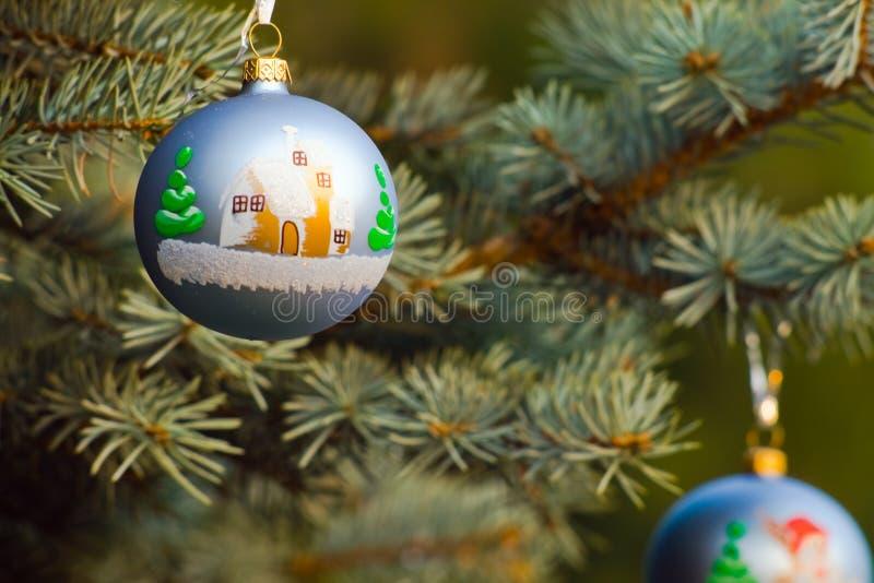两件圣诞节装饰 库存图片