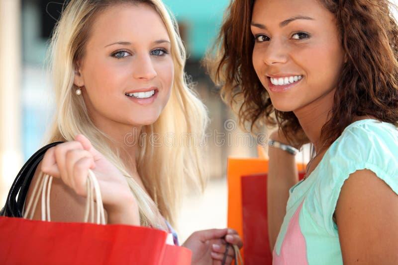 两20岁女孩 免版税图库摄影