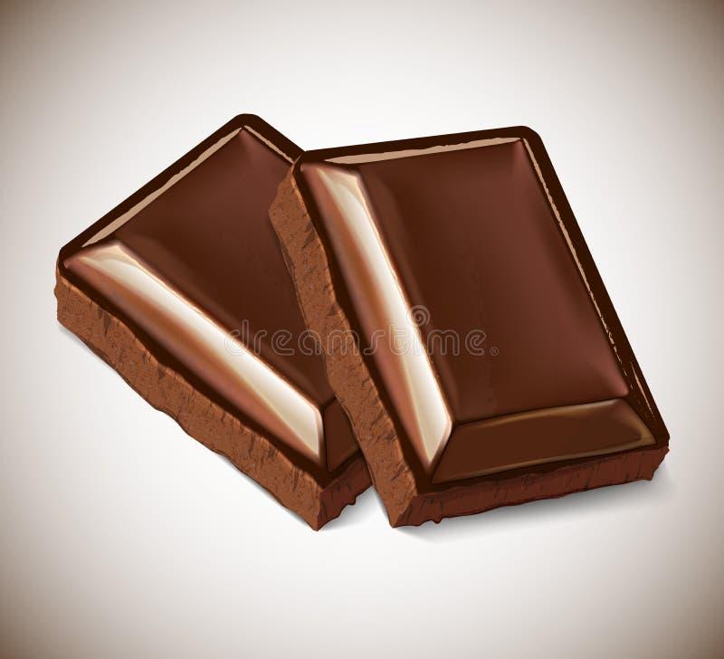 两件巧克力 向量例证