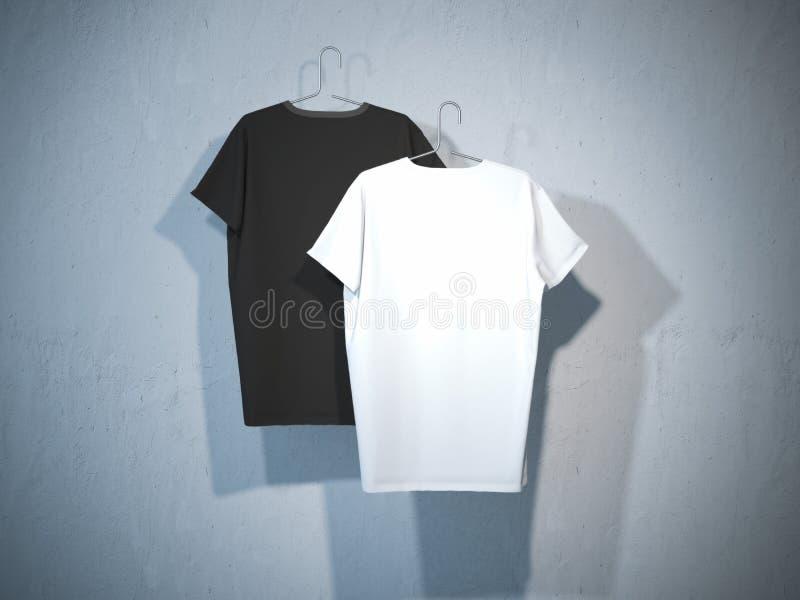 两件空白的T恤杉的后部 库存照片