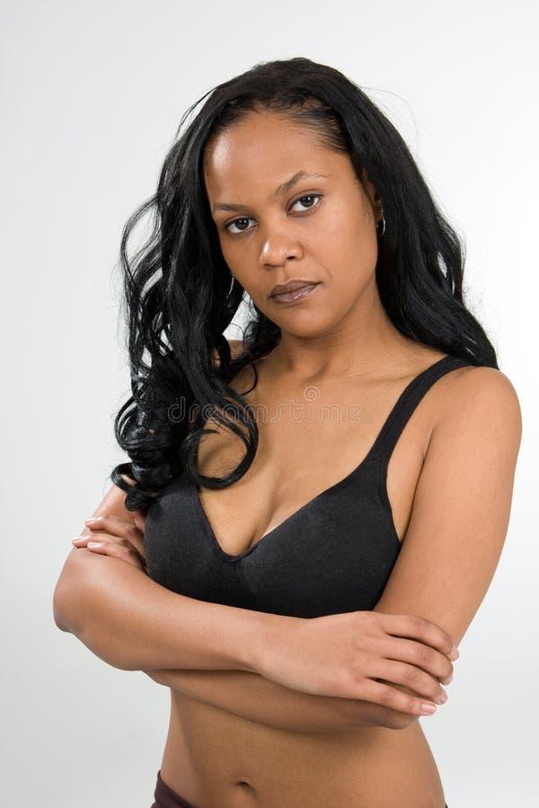 严厉的妇女年轻人 免版税库存照片