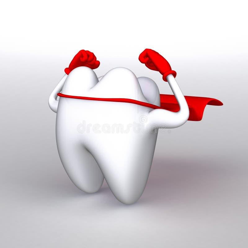 严格的健康牙 图库摄影