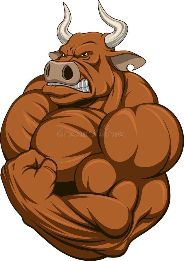 严格的公牛 向量例证