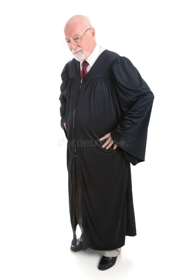 严肃的法官-充分的身体 免版税库存照片