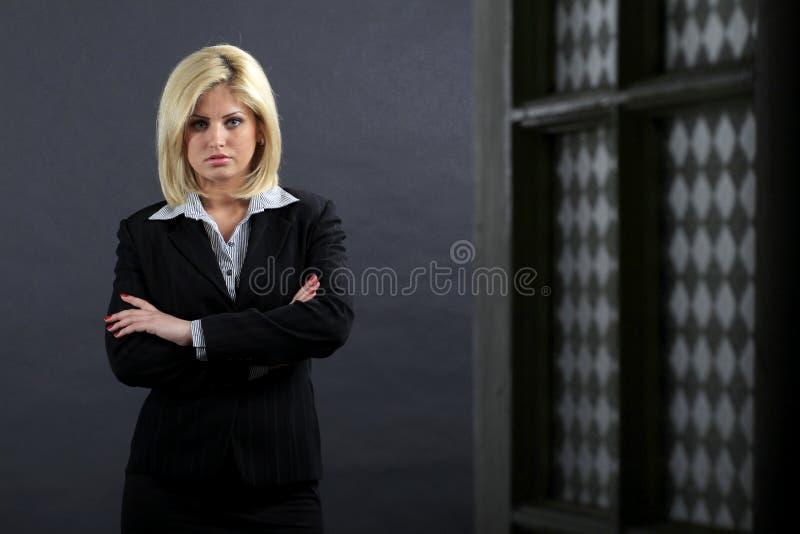 严重女实业家的女性 免版税图库摄影