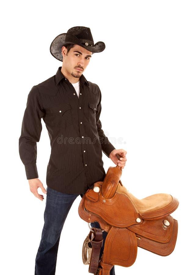 严重牛仔的马鞍 库存图片
