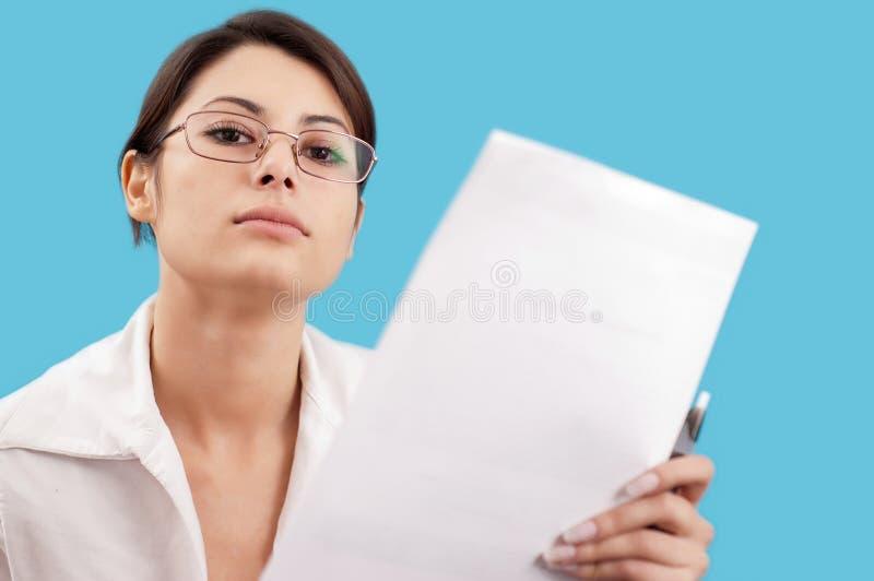 严重的妇女 免版税库存照片