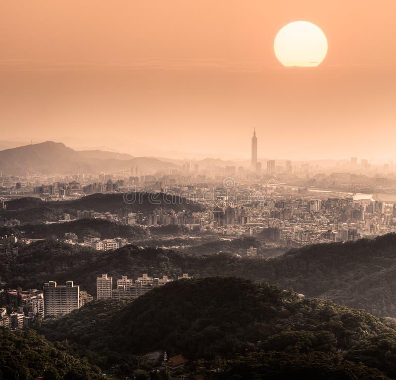 严重的都市风景 免版税库存图片