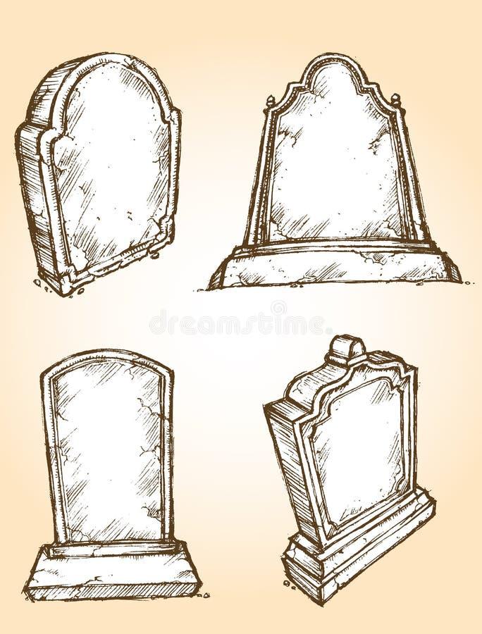 严重石头集合 库存例证