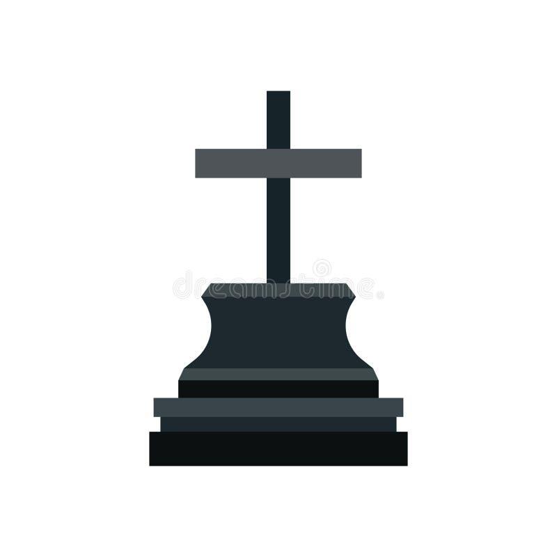 严重设计黑色纪念纪念碑万圣节假日传染媒介象 公墓墓碑图表奥秘裂口 向量例证
