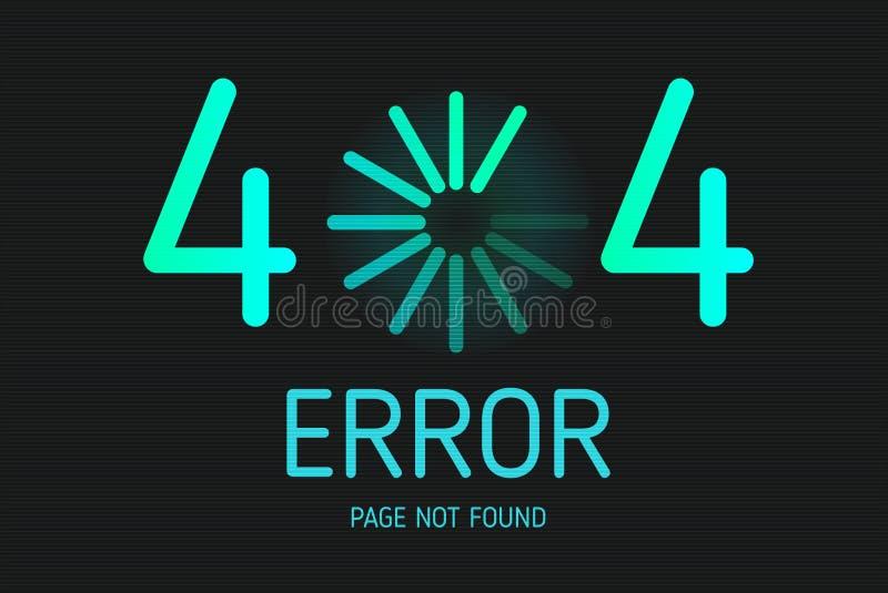 404个与象下载的错误没被找到的页 库存例证