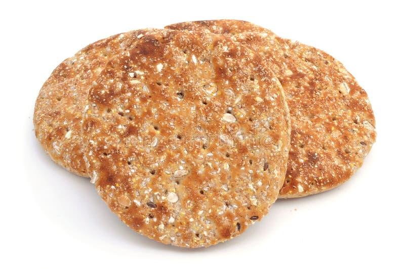 整个五谷皮塔饼面包 免版税图库摄影