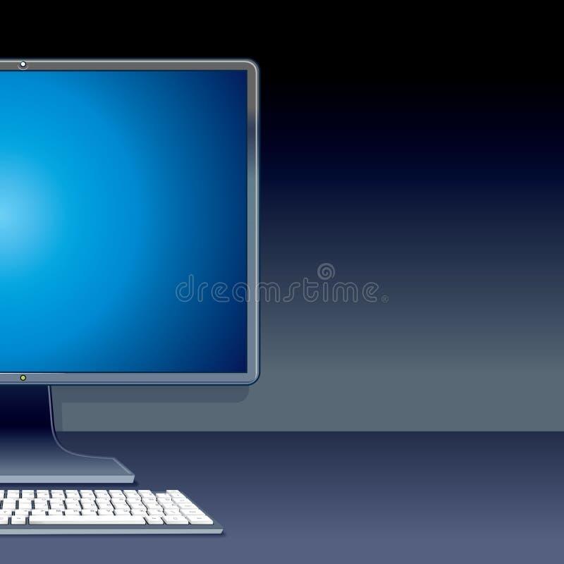 个人台式计算机个人计算机。传染媒介例证 库存例证