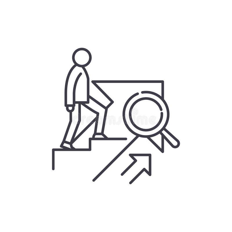 个人成长线象概念 个人成长传染媒介线性例证,标志,标志 皇族释放例证