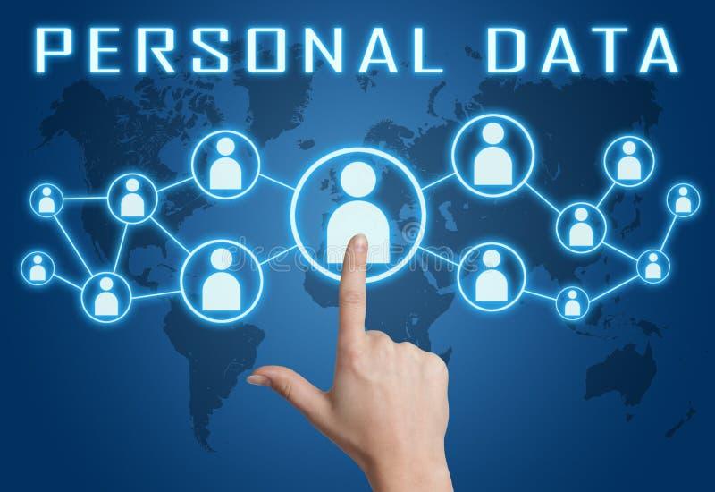 个人数据 免版税库存照片