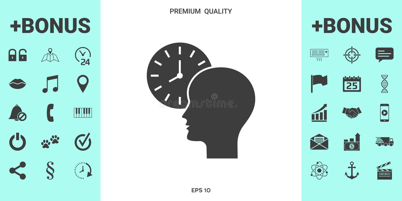 个人日程表,时间安排,有手表象的人 皇族释放例证