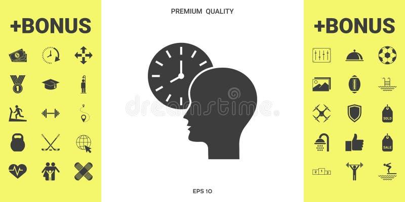 个人日程表,时间安排,有手表象的人 向量例证