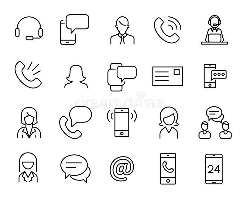 个人服务的简单的收藏关系了线象 库存例证