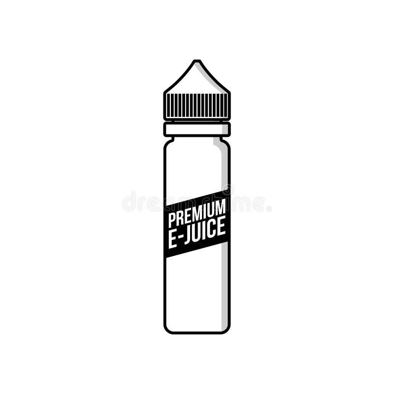 个人蒸发器e香烟e汁液液体塑料瓶 向量例证