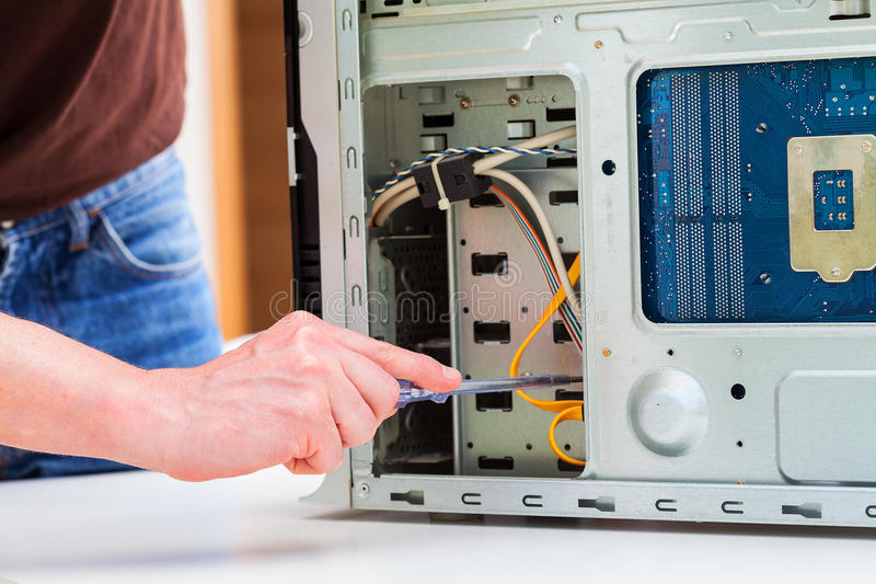 个人计算机修理 库存照片