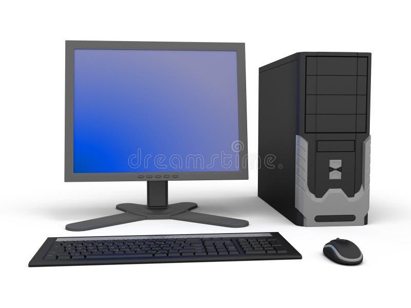 个人计算机工作区 免版税库存图片