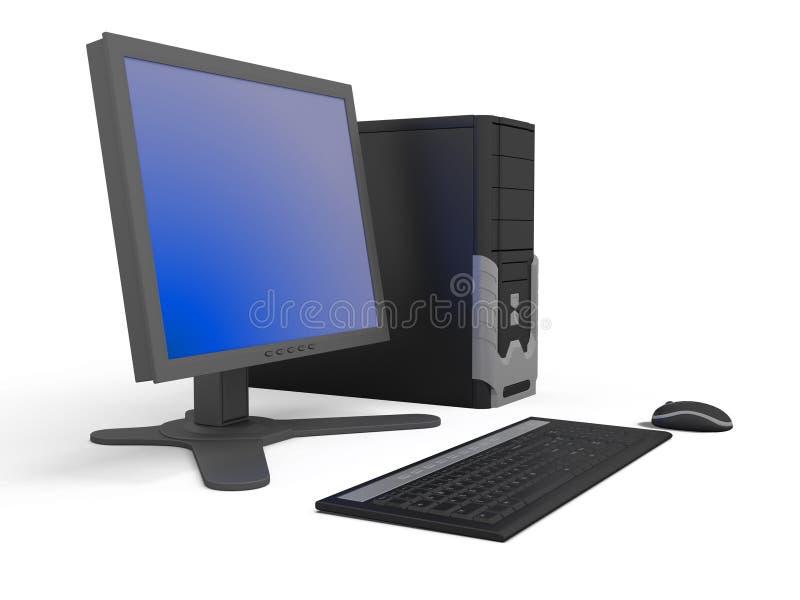 个人计算机工作区 皇族释放例证