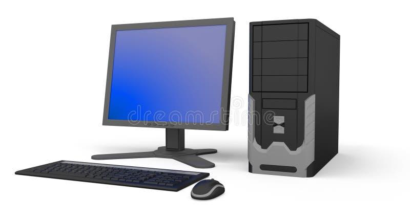个人计算机工作区 向量例证