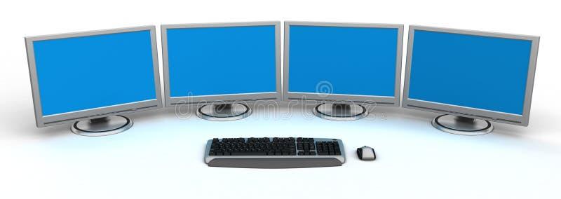 个人计算机工作区 库存例证