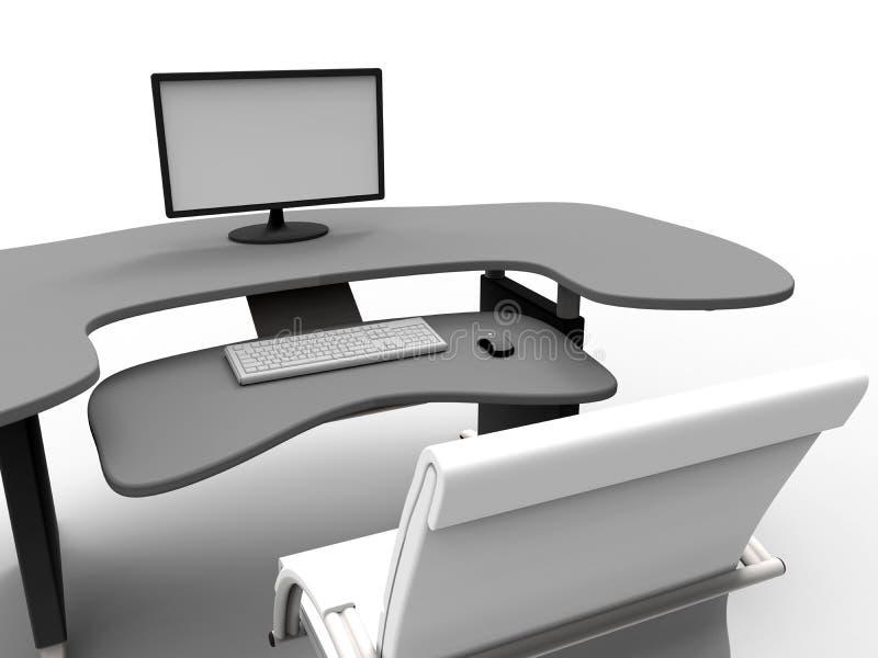 个人计算机工作场所 向量例证
