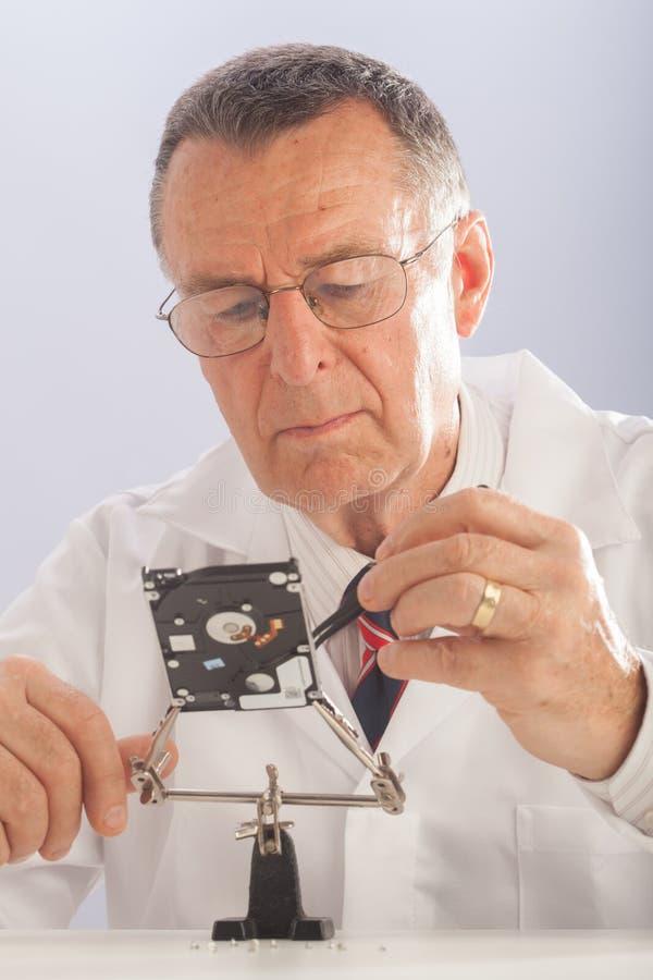 个人计算机技术员 免版税库存图片