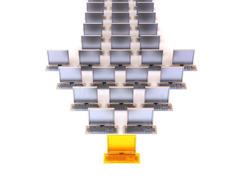 个人计算机指针 皇族释放例证