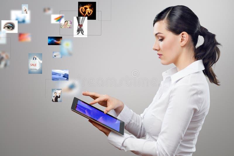 个人计算机片剂 库存照片