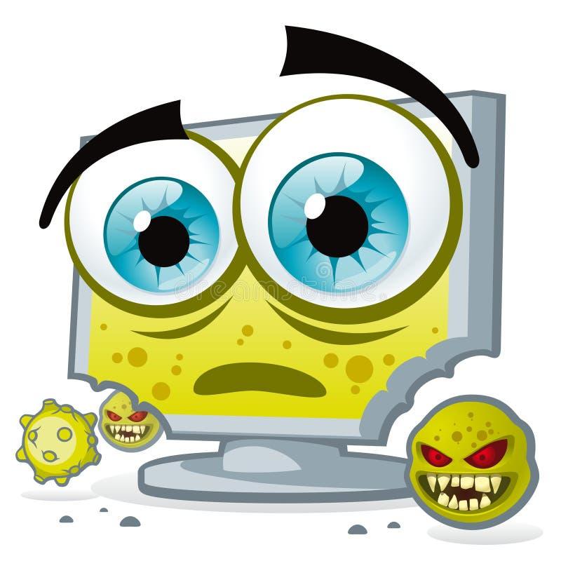 个人计算机病毒 向量例证