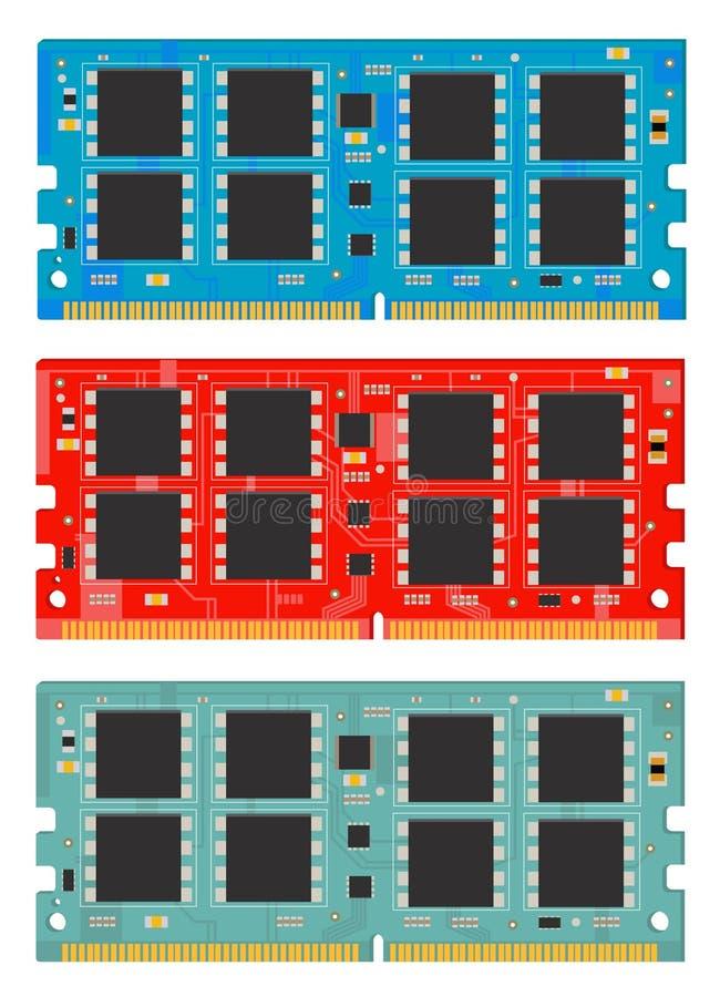 个人计算机的记忆模块 公羊 皇族释放例证