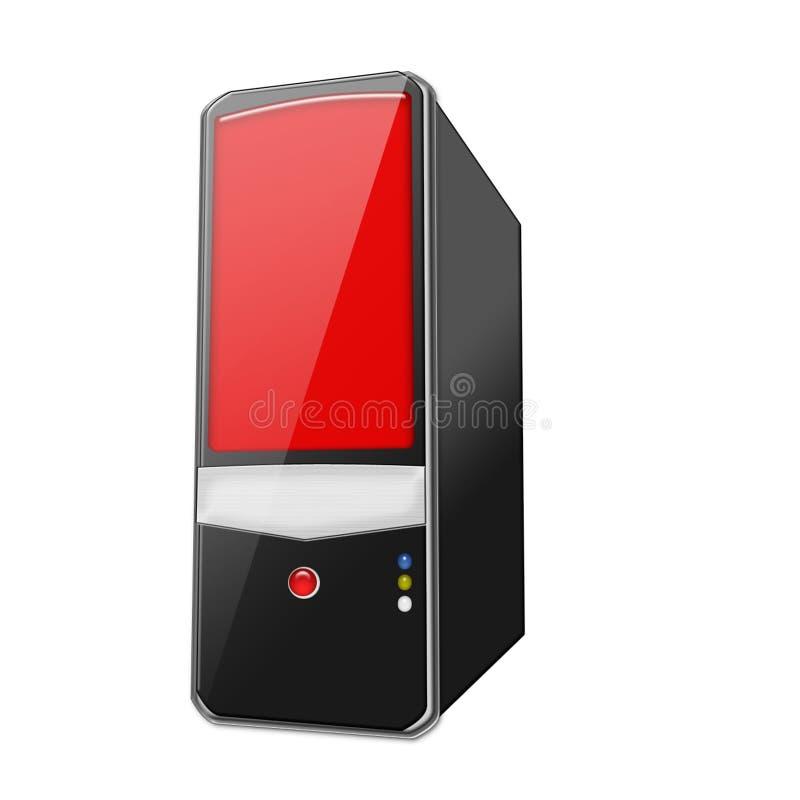 个人计算机红色 库存例证