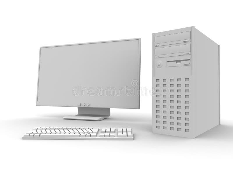 个人计算机设置 库存例证