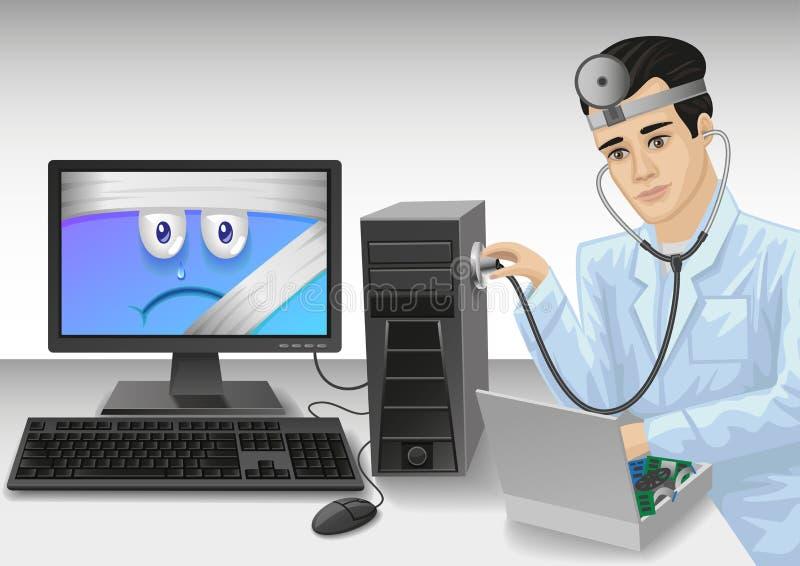 个人计算机医生 库存例证