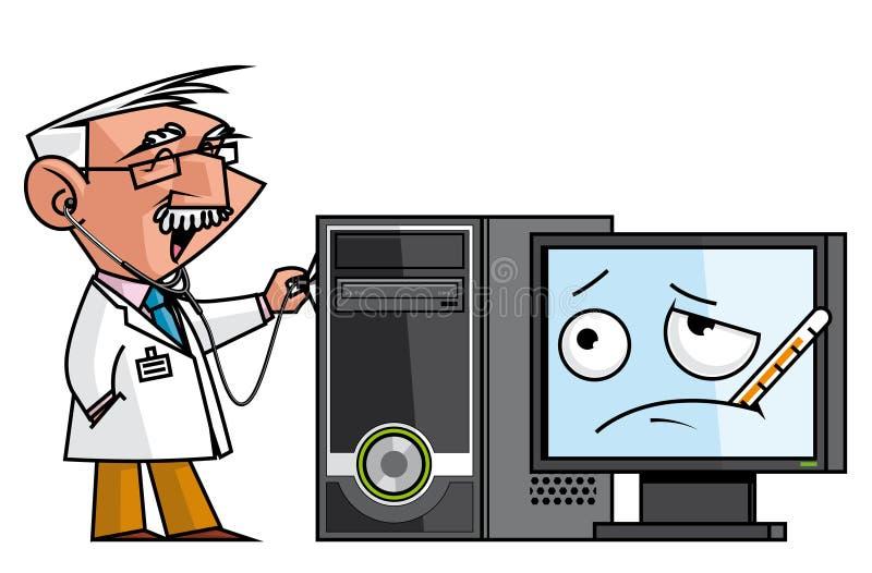 个人计算机doc 皇族释放例证