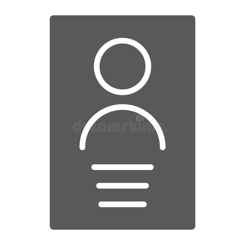 个人资料纵的沟纹象、文件和信息,文件标志,向量图形,在白色背景的一个坚实样式 向量例证