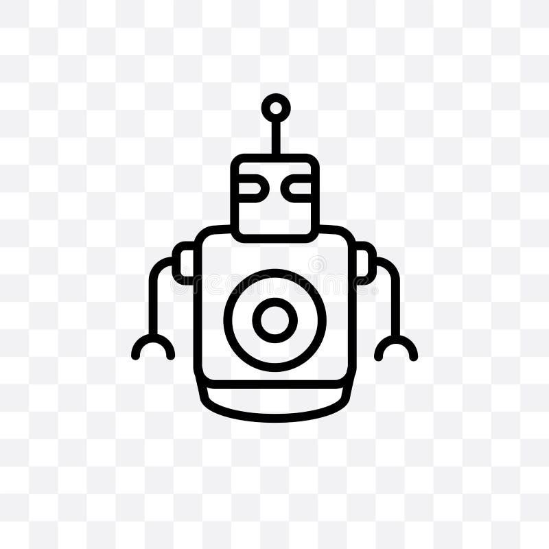 个人droid导航在透明背景隔绝的线性象,个人droid透明度概念可以为网使用和 向量例证