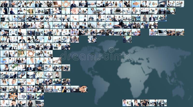 6个企业拼贴画绿色图象口气 库存照片