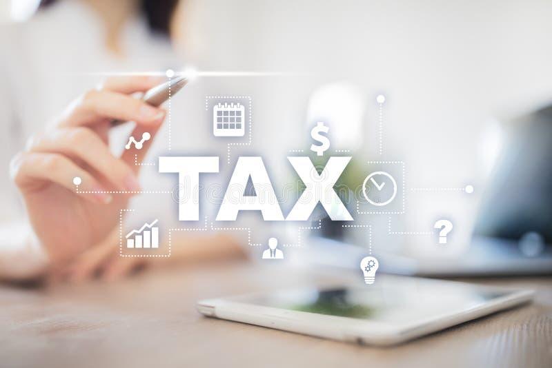 个体和公司支付的税的概念 ?? 收入和财产税 免版税库存照片