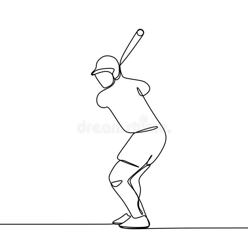 个别线路棒球选手传染媒介例证图画  向量例证