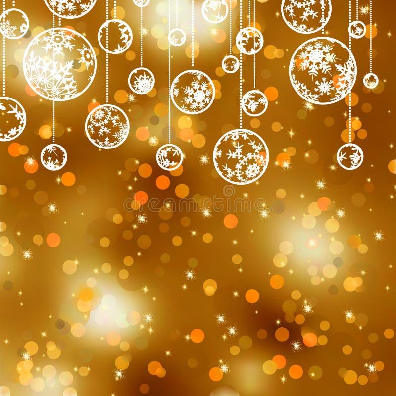 8个包括的背景圣诞节典雅的eps文件金子 EPS 8 库存例证