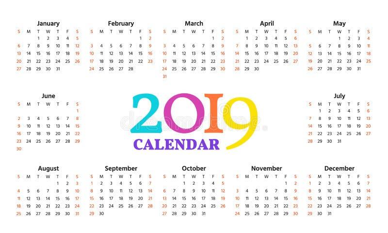 2019个历年 也corel凹道例证向量 模板计划者 向量例证