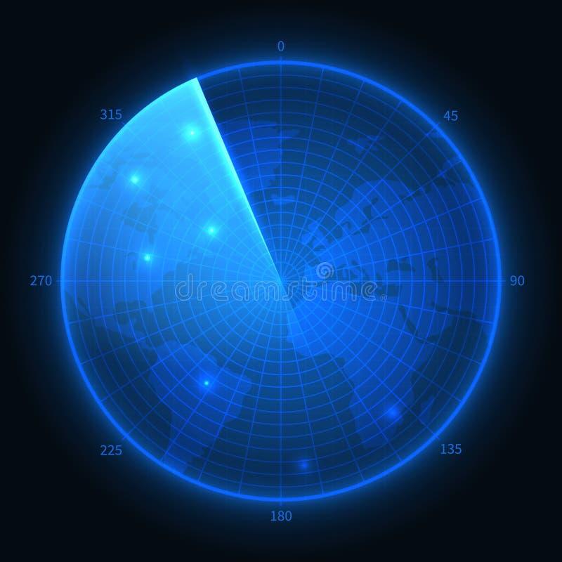 8个另外的eps格式梯度例证滤网没有雷达可实现的屏幕向量 军用蓝色生波探侧器 航海接口传染媒介地图 皇族释放例证
