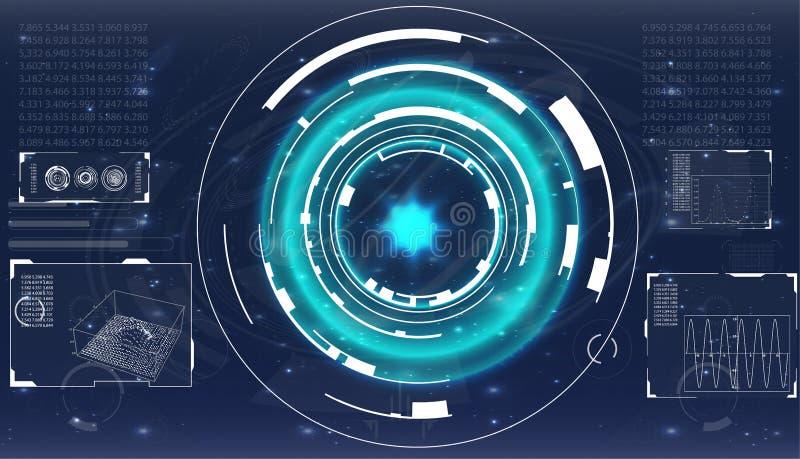 8个另外的eps格式梯度例证滤网没有雷达可实现的屏幕向量 未来派用户界面 皇族释放例证