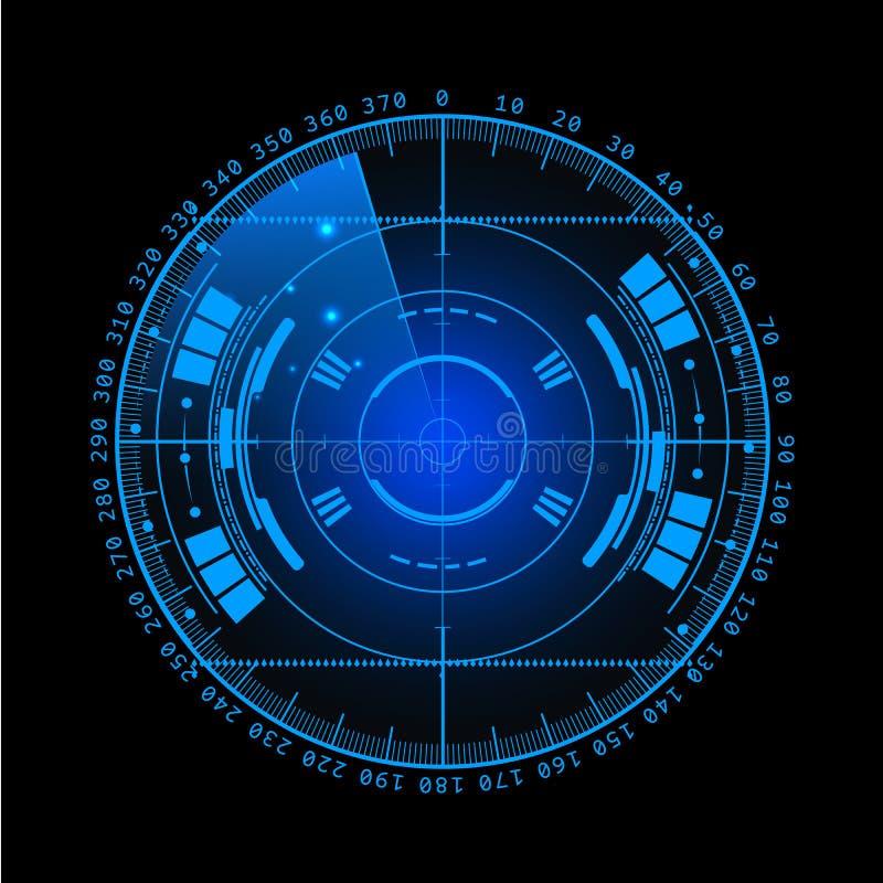 8个另外的eps格式梯度例证滤网没有雷达可实现的屏幕向量 设计例证写您 背景二进制代码地球电话行星技术 未来派用户界面 雷达显示与 向量例证