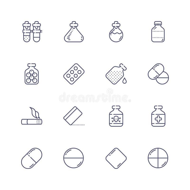 2个可用的eps图标查出的医学集合白色 免版税库存图片